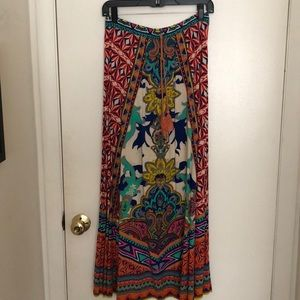 Maxi skirt with tie detail